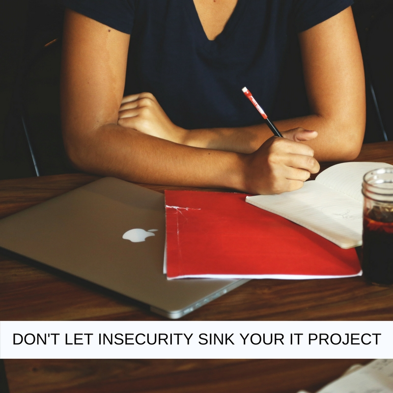 DON'T LET INSECURITY SINK YOUR IT PROJECT